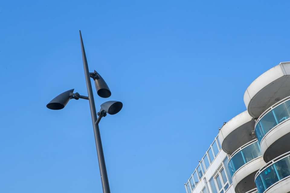Verlichting stationsplein Zandvoort
