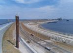 Verlichting radartoren op Maasvlakte 2